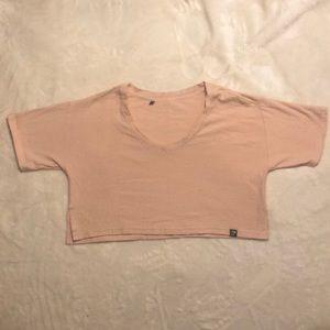 Gymshark towel top pale pink